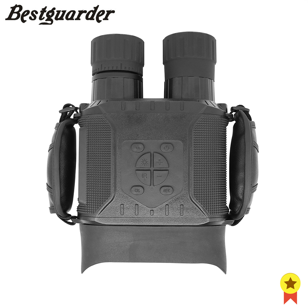 Bestguarder Binoculars Hunting 32G TF 400m Long Viewing Distance 4 inch Widescreen Night Vision with Strap anti-shedding