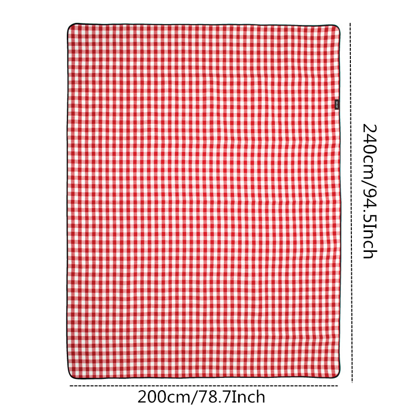 Image 5 - VILEAD 240*200cm Picnic Camping Mat Folding Waterproof Beach Outdoor Pic Nic Travel Tarp Foldable Blanket Ground Dampproof Camp-in Camping Mat from Sports & Entertainment