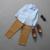 El Bebé arropa 2 unids Ropa de Moda Camisa de Manga Larga Tops + Pants Outfit Venta Caliente Nuevos 2016 Niños Ocasionales Sistema de la ropa