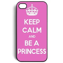 Wholesale Retail Keep Calm and be a Princess the pink bottom Snap On Case Cover for Apple iPhone 4 4s 5 5s 5c 6 6s 6plus 6s plus