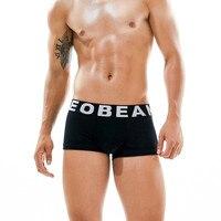 3 pcs/lot Nouvelle d'été seobean Hommes boxeurs de sous-vêtements Sexy taille basse Fiber De Bambou Respirant solide boxeurs 3 couleurs taille M/L/XL/XXL