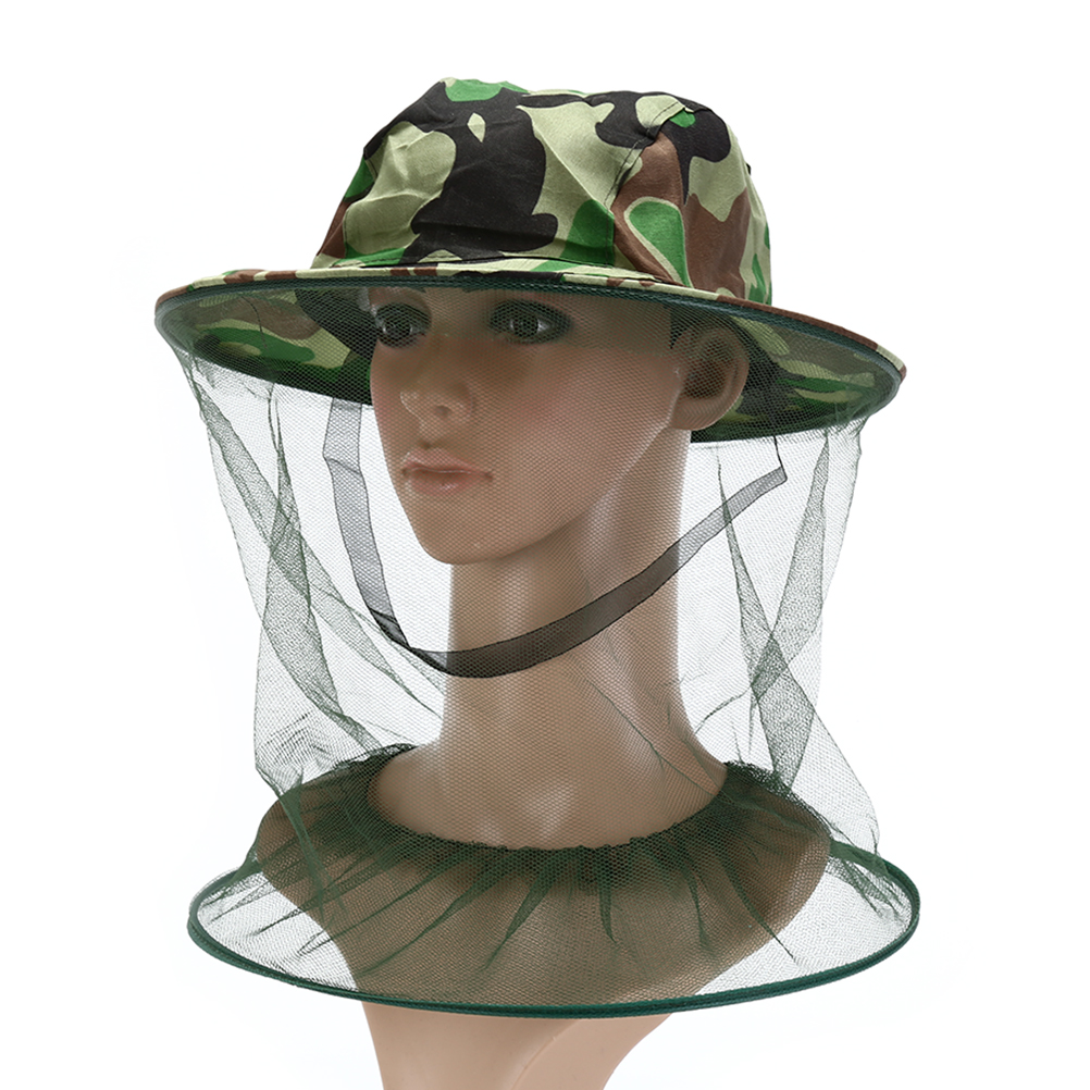 Fishing Caps Midge Mosquito Insect Hat Bug Mesh Head Net Face Protector Hat  JM