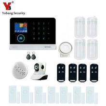 YobangSecurity WiFi GSM GPRS RFID Home Burglar Fire Alarm System Kit IOS Android APP Control With IP Camera Smoke Fire Detector