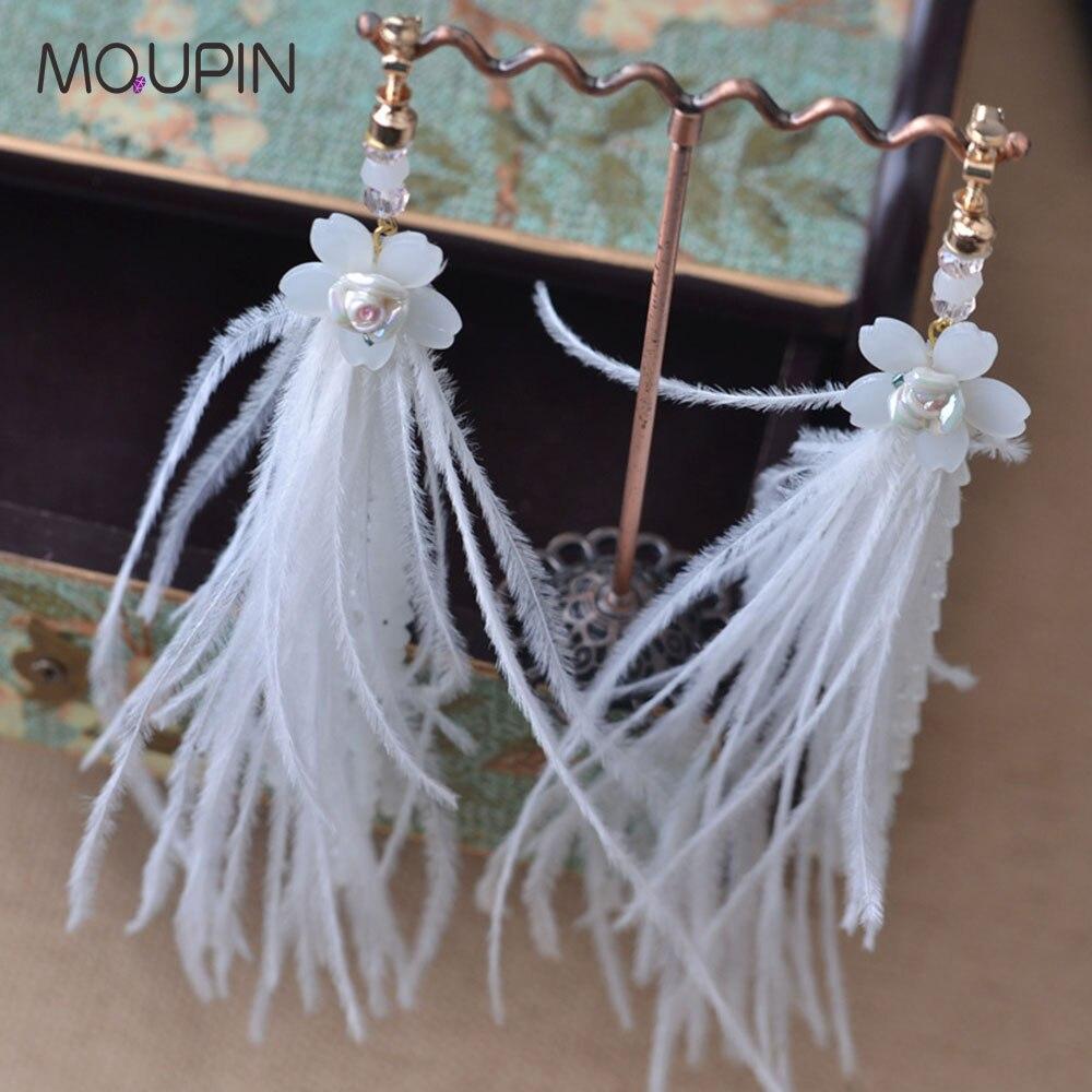 MQUPIN New fashion Korean style butterfly flower women earrings multilayer Long tassel jewelry women girls drop earrings цены онлайн