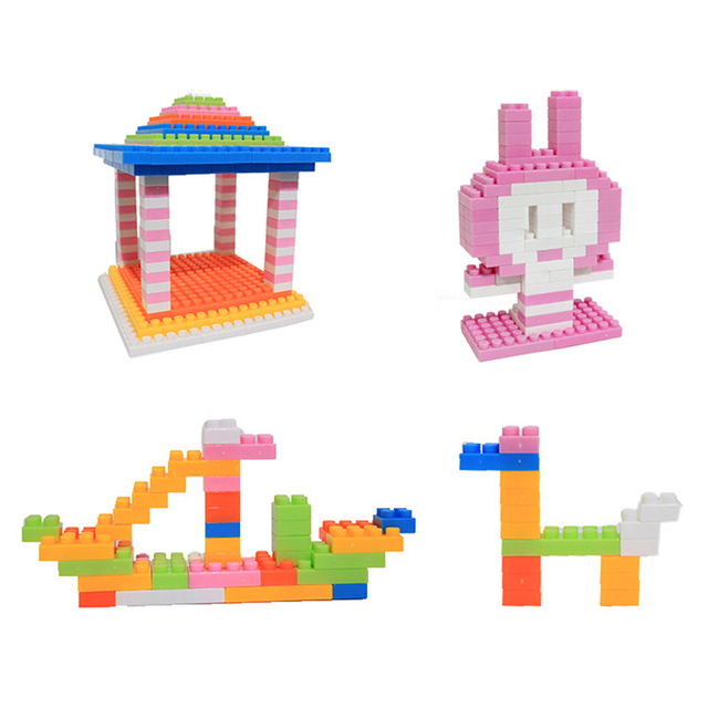 144Pcs Baby Plastic Intelligence Bricks Educational Building Blocks Toys