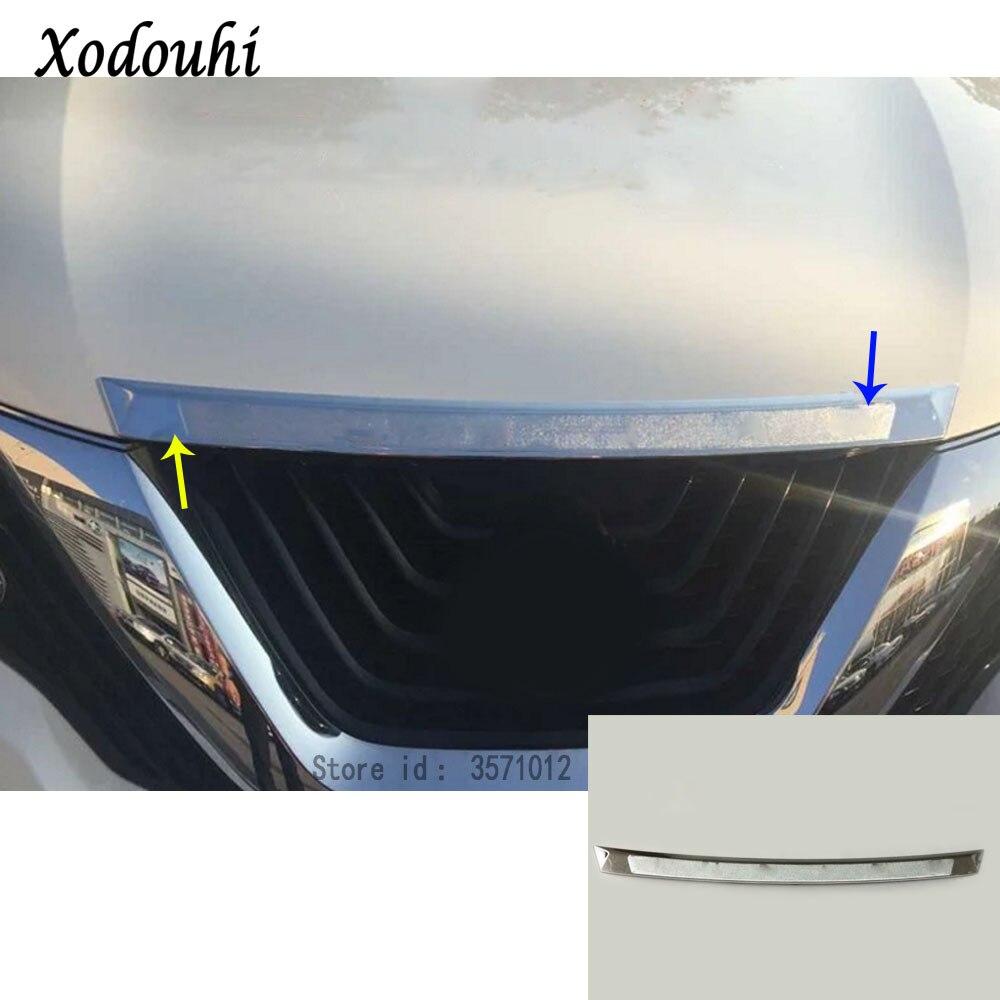Pour Nissan Murano 2015 2016 2017 2018 voiture style garniture couvercle panneau avant moteur machine grille capot bâton couvercle garniture lampe 1 pièces