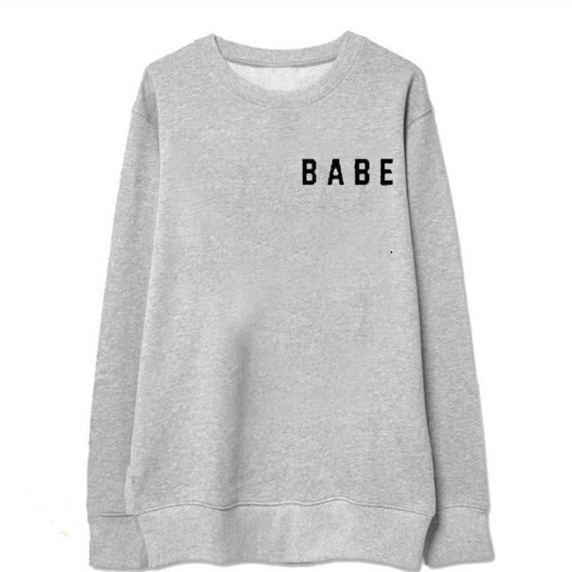 2016New arrvials Ivy park Hoodies Babe Letter impreso negro estilo de - Ropa de mujer