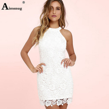 Womens Lace Sexy Dress Hollow Out Mini Vestidos Ladies Party Elegant Dress Robe Femme Summer Sleeveless Tunic For Women Pareo цена и фото
