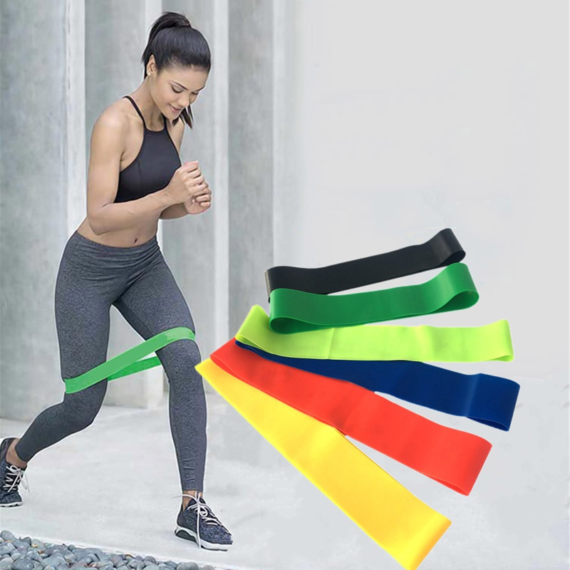 Resistance Bands Rubber Soft Band Workout Fitness Gym Equipment Rubber Loops Latex Yoga Gym Strength Training 6 Colors 1 Pc