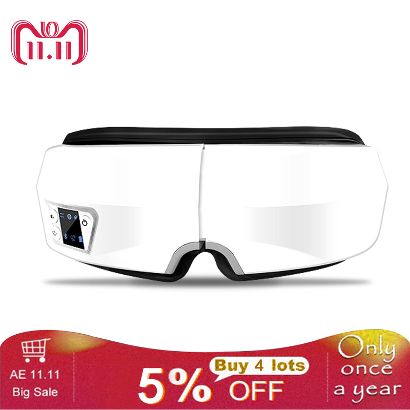Eyes SPA Electric Wireless Bluetooth Eye Massager Air Pressure Music Eye SPA Glasses Head Stress Relief Eyes Care Device цена