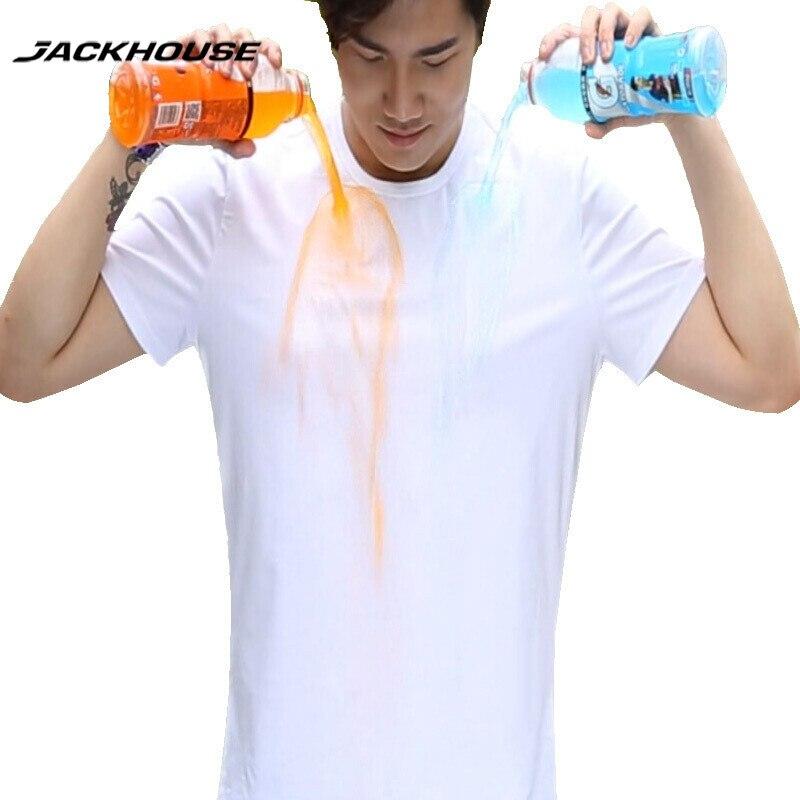 Jackhouse 1 PC 2017 Fashional été imperméable hommes t-shirt à manches courtes créatif hydrophobe Anti-fouling t-shirt marque vêtements