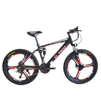 26inch 350W Electric Bicycle Mountain Bike, 48V Lithium Battery, Front&Rear Suspension, Disc Brake LCD Displayer