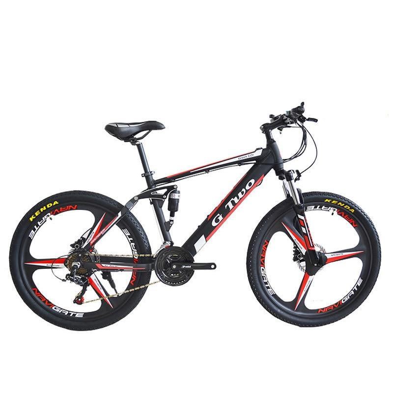 Bicicleta De Montaña Eléctrica De 26 Pulgadas 350 W, Batería De Litio De 48 V, Suspensión Delantera Y Trasera, Disco De Freno Lcd Superficie Lustrosa