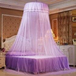 1 Stücke Elegante Spitze Runde Bettwäsche Moskito Net Home Bettwäsche  Vorhang Dome Top Prinzessin Bett Baldachin Netting