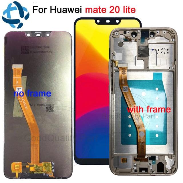 100% prueba para huawei mate 20 lite pantalla LCD digitalizador de pantalla táctil SNE-LX1 SNE-L21 SNE-LX3 SNE-LX2 L23 para huawei mate 20 lite