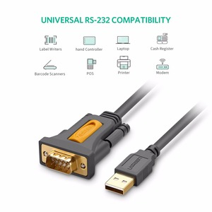 Image 2 - Ugreen USB vers RS232 Port COM Série PDA 9 DB9 Pin Câble Adaptateur Prolific pl2303 pour Windows 7 8.1 XP Vista Mac OS USB RS232 COM