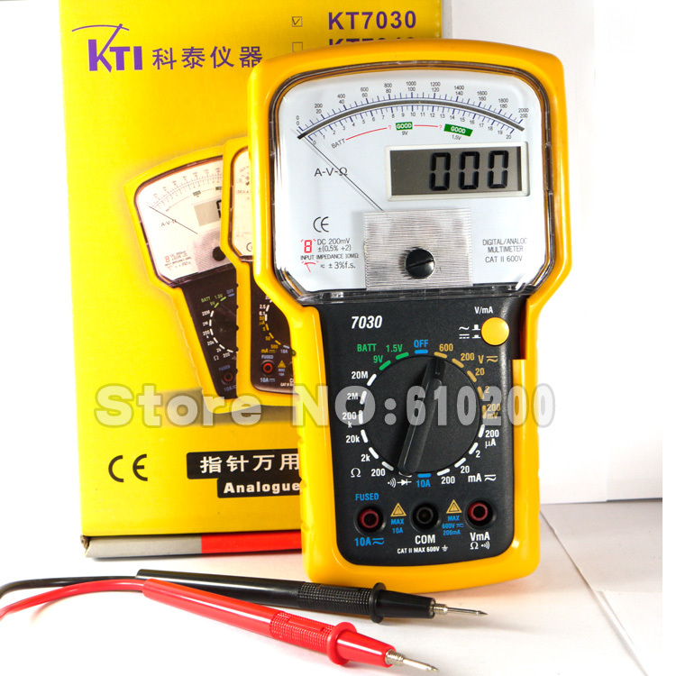 Free shipping New Products Handheld high precision Pointer Multimeter Digital Multimeter 2 in 1 Dual Display