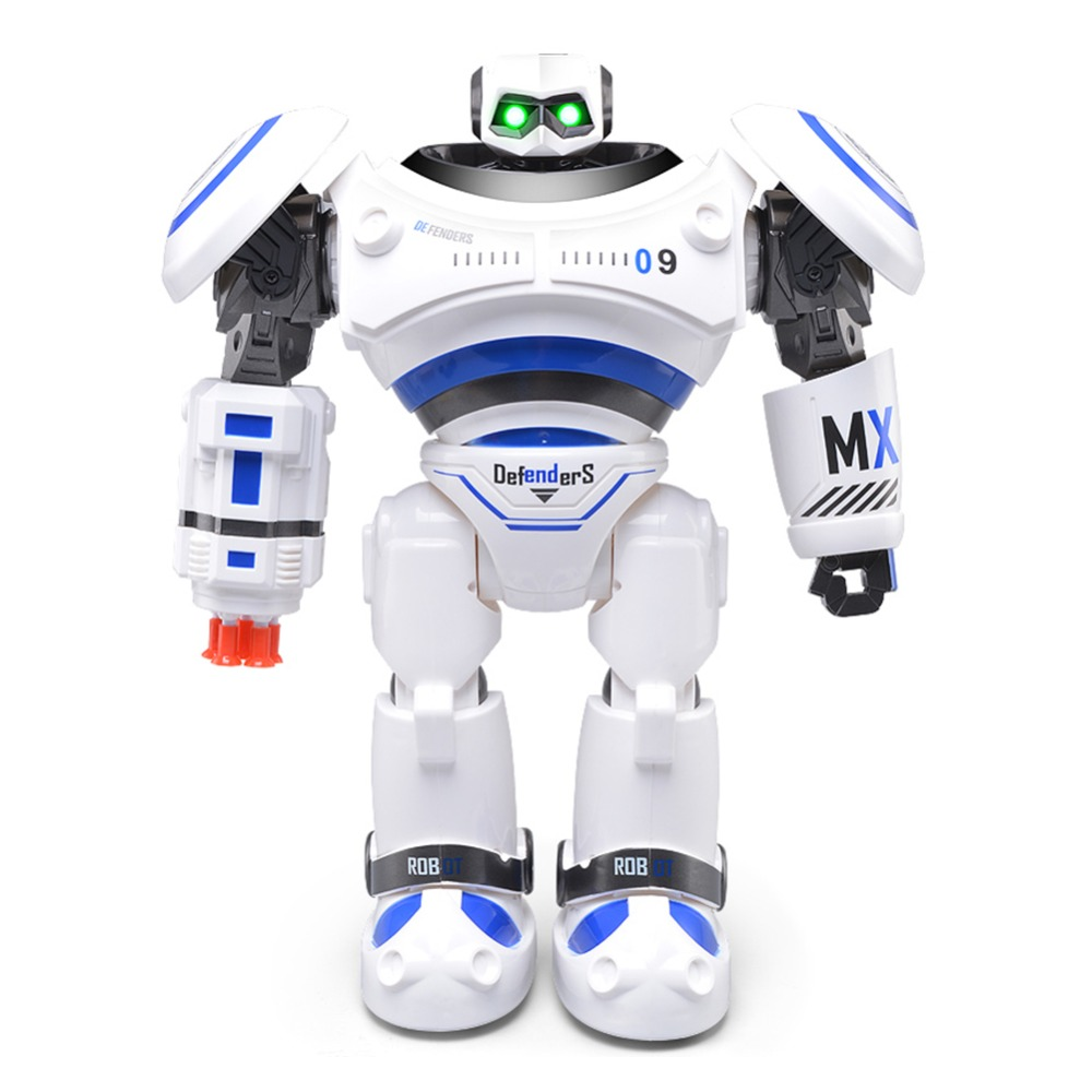 RC Smart Robot English Toy R 1 Infrared Slide Walk Shoot Missile Dancing Intelligent Remote Control Battle Droid Toy for Kids