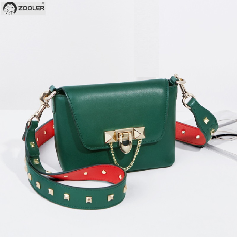 ZOOLER WOMAN COW leather shoulder bag designed genuine leather bags women messenger cross body bag for