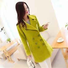 New Winter Woolen Coat Female Women's Clothing Fashion Temperament Long Coats Jackets Women Slim Overcoat Parkas Wool Coat C1266