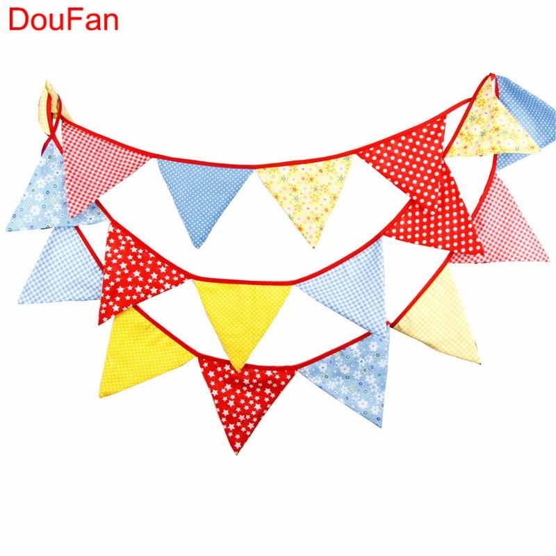 DouFan pamutszövet Zászló Zászló Banner Kétoldalas Baby - Ünnepi és party kellékek
