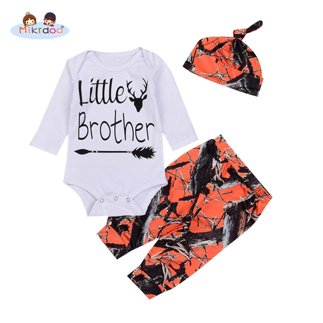 52bd7d0e9d89 Toddler Baby Boys Girls Clothes Set Deer and Letters Print Romper Retro  Printing Pant Hat Fashion