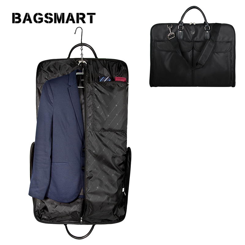 BAGSMART Business Garment Bag Men Waterproof Suit Bag  Nylon Travel Bags For Suits