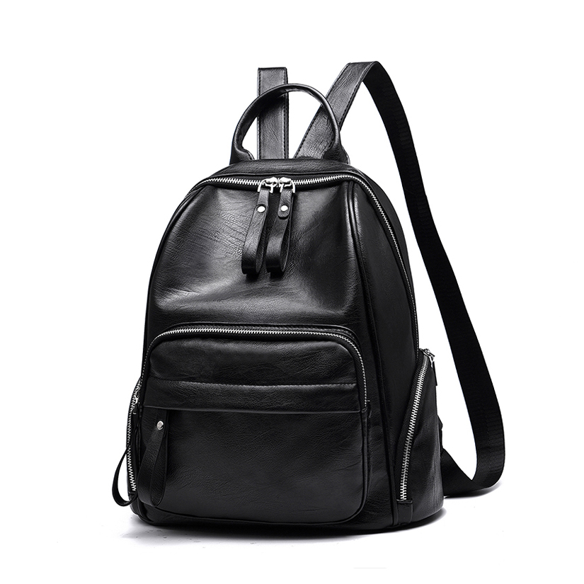 Women Shoulder bag female 2018 new design backpack bag ladies fashion black large-capacity soft leather leisure travel backpack