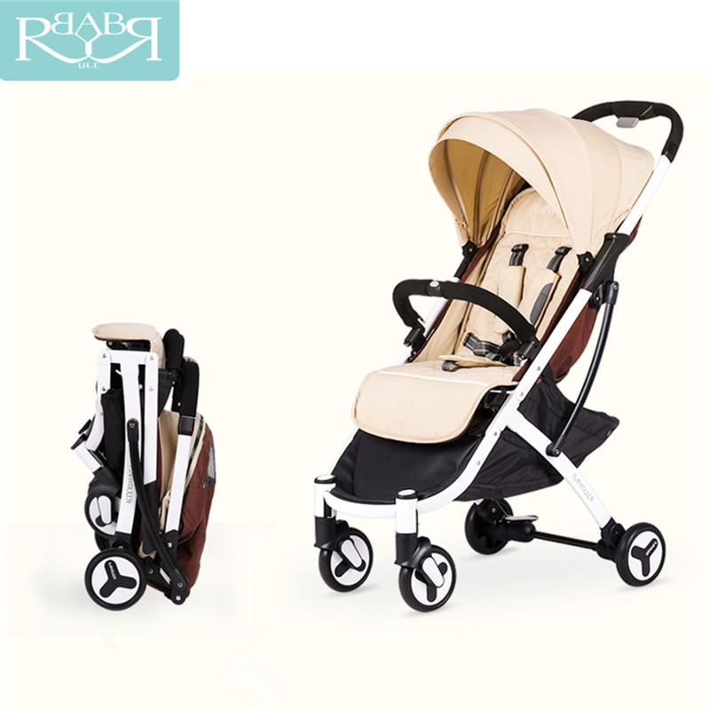 Babyruler lightweight Folding aluminum Luxury baby stroller mini size baby carriage 3 in 1 Prams For Newborns carrinhos folding baby stroller lightweight baby prams for newborns high landscape portable baby carriage sitting lying 2 in 1