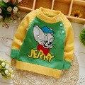 Бесплатная доставка Весной и Осенью мальчик и девочка свитер, пуловер, свитер детей # Z1703B
