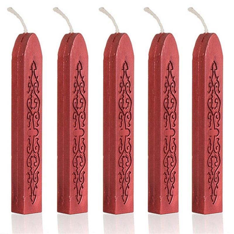 5 шт. Традиционный шнур фитиль винтажные уплотнительные восковые палочки для Po цвет выбрать лучшее продвижение - Цвет: Shine wine red