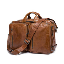 Manufacturers wholesale Cowhide Europe and United States men's bags portable multifunctional bag man single shoulder bag
