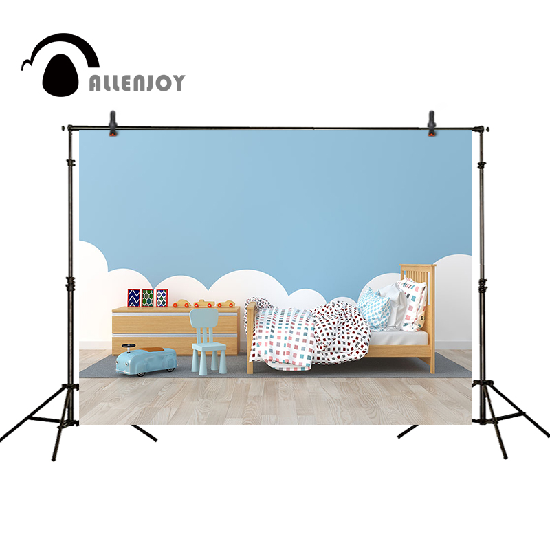 Allenjoy фотографии фонов ребенок фоном кресло-кровать игрушки, ковер деревянный пол облако Крытый камеры фотографический фон