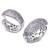 Pendiente del aro 2017 pequeños aros del pendiente de Las Mujeres de color blanco forma ovalada Pendiente Joyas bijoux