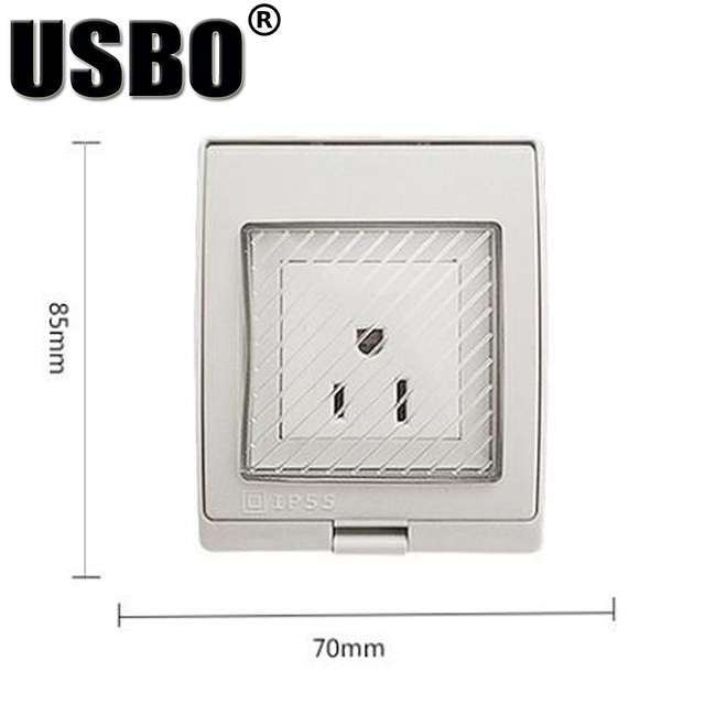 Supply Anti UV American 13A 250V IP55 outdoor power socket white CE ...