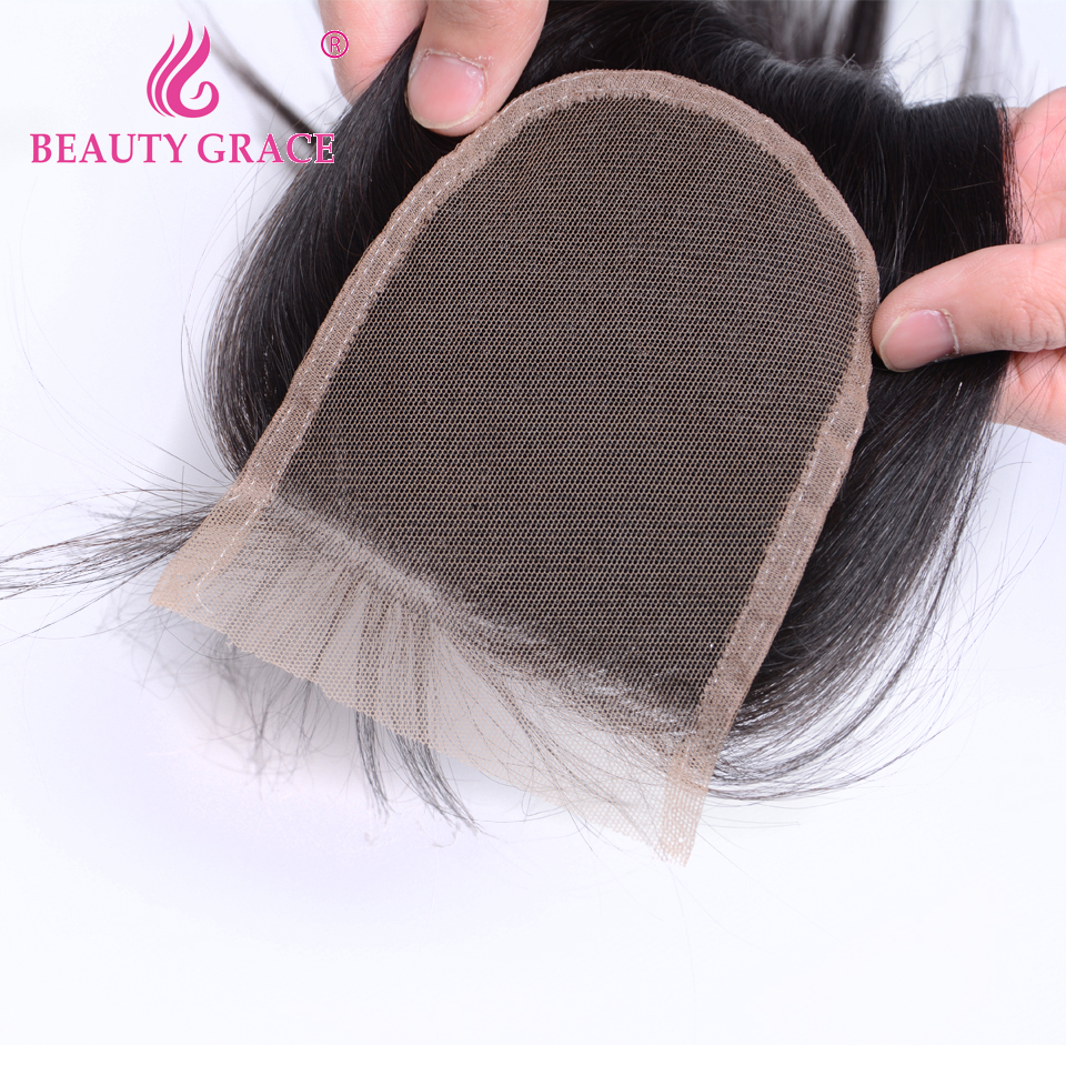 Image 5 - Beauty Grace Peruvian Hair Body Wave Lace Closure With Baby Hair 4x4 Remy 100% Human Hair Middle Free Three Part Top Closures-in Closures from Hair Extensions & Wigs