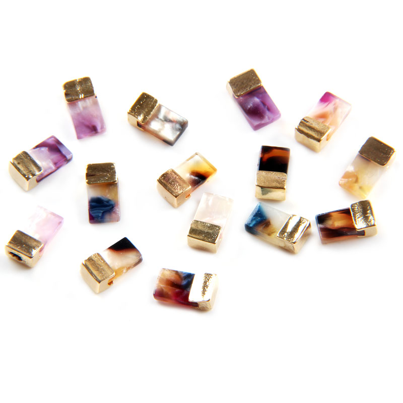 Rhinestones & Decorations 10pcs/lot Japanese Style Shading Amber With Gold Rim Alloy Jewelry Gems Imitate Stone Nail Art Decorations Nails Art & Tools