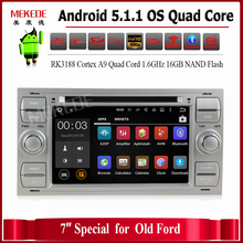 Free shipping 7 Inch In Dash Android Car DVD For Ford/Mondeo/Focus/Transit/C-MAX With Quad Core Wifi GPS Navigation Radio FM