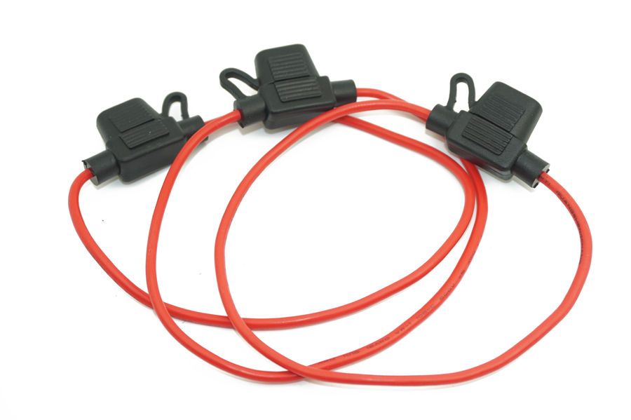 Free Shipping 5 X In Line Standard Blade Fuse Holder Splash Proof For W 16 Awg Fuses Car Bike