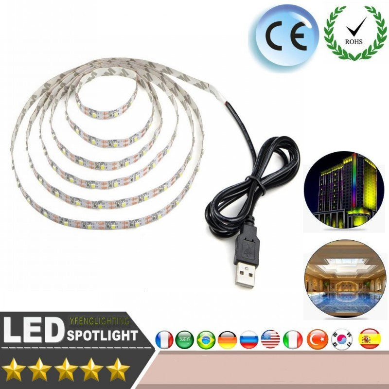 USB LED Strips SMD3528 light 5V adapter string Christmas desk Decor lamp tape For TV Background Lighting 5V 50CM 1M 2M 3M 4M 5MUSB LED Strips SMD3528 light 5V adapter string Christmas desk Decor lamp tape For TV Background Lighting 5V 50CM 1M 2M 3M 4M 5M