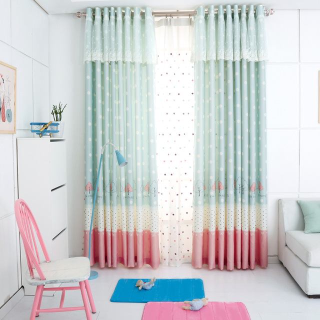 Sweet Green Drapes for Princess Children\'s Room Bedroom Home Decoration  Beautiful Lace Curtains for Living Room Girls-in Curtains from Home &  Garden ...