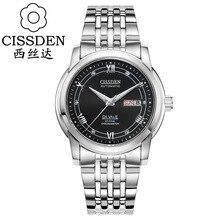 CISSDEN Люксовый бренд мужские механические автоматические наручные часы 100 м водонепроницаемый алмазов календарь Световой