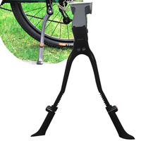 Parts Center Mount Mountain Bike Quick Adjust Foot Stand Double Leg Parking Rack Kickstand Cycling Bicycle