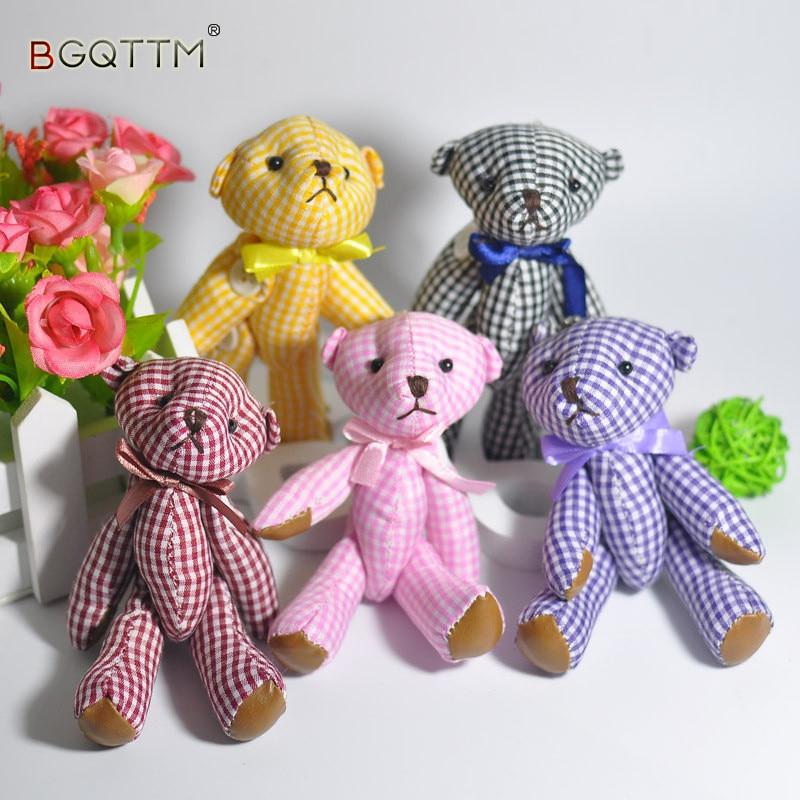 2Pcs/Set Kawaii Teddy Bear Pendant Mini Dolls Kids Stuffed