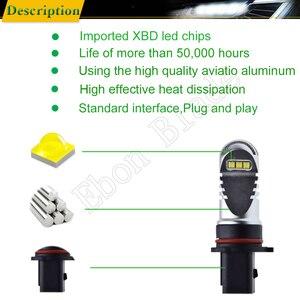Image 5 - 2 pces canbus livre de erros 6000 k branco xbd 30 w carro led p13w psx26w lâmpadas para a luz de nevoeiro automóvel que conduz a fonte de luz 12 v 24 v dc