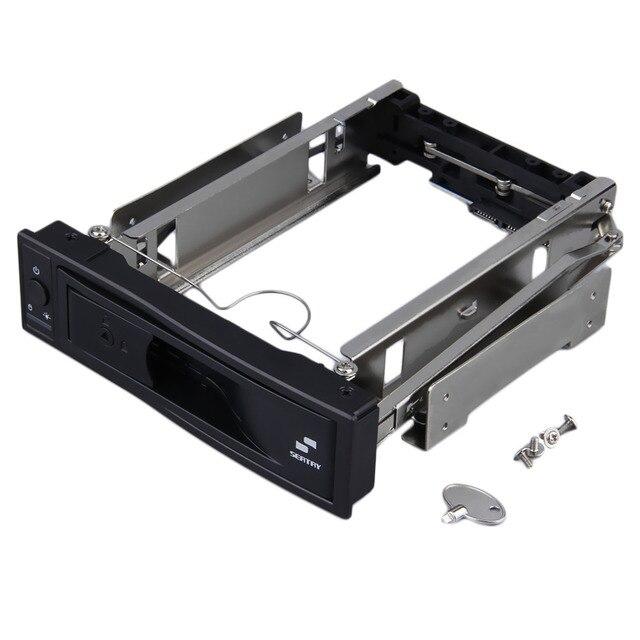 3.5 pulgadas HDD SATA Hot Swap Recinto Interior Mobile Rack con Cerradura de Llave