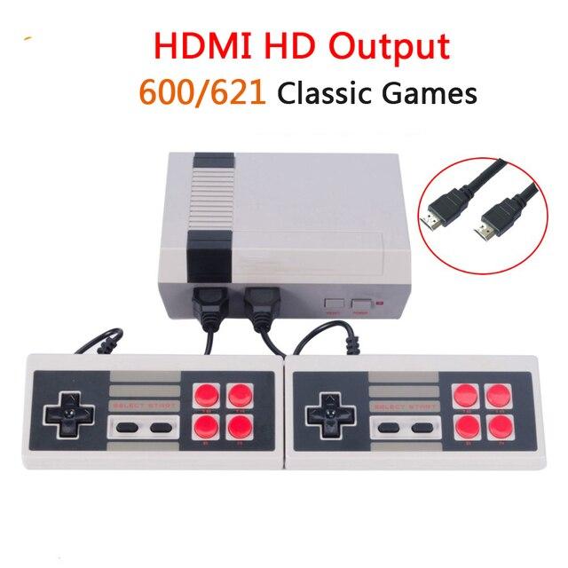 Mini TV Handheld Video Game Console Family Recreation Retro TV Game Console  Built-in 600/621 Classic Games Dual Gamepad