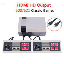 Mini TV Handheld Video Game Console Family Recreation Retro TV Game Console Built-in 600/621 Classic Games Dual Gamepad