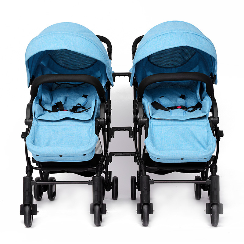 Detachable Twins Baby Stroller Folding Portable Can Sit & Lie Double Baby Trolley Newborn Pushchair Poussette Pram Bebek Arabasi baby throne baby stroller portable can sit and lie down folding baby car bebek arabasi portable baby carriage