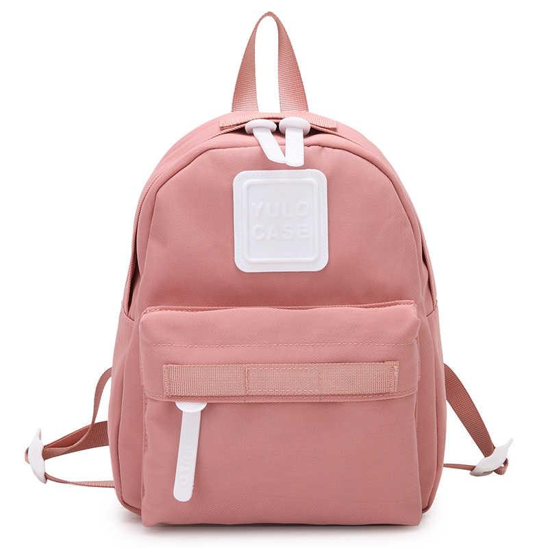 Мини-рюкзак женский милый маленький рюкзак для девочек-подростков 2019 Mochilas Feminina нейлон водонепроницаемый японский стиль